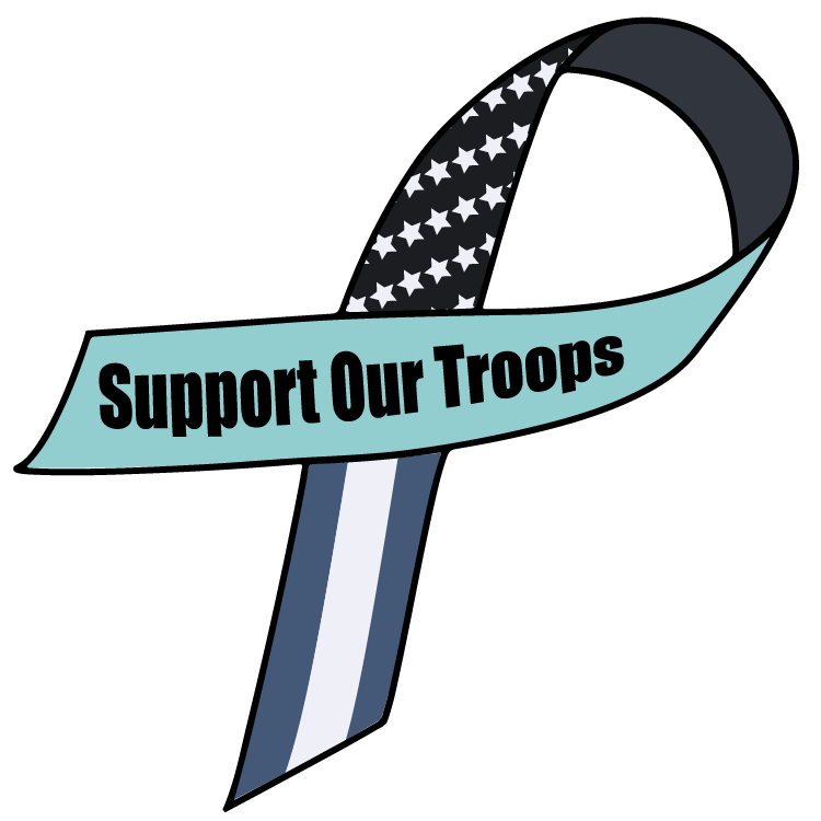 High Desert Inspections Support Our Troops Ribbon Blue flag america